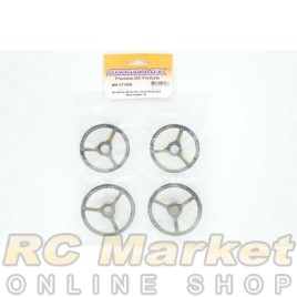 ARROWMAX 171008 Alu Set-Up Wheel For 1/8 On-Road Cars Black Golden (4)