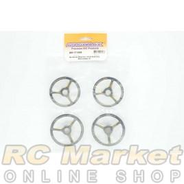 ARROWMAX 171008 Alu Set-Up Wheel For 1/8 On-Road Cars Black Golden (4)