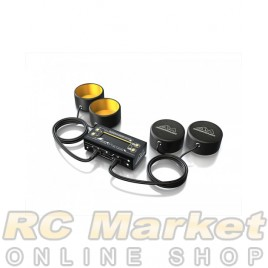 ARROWMAX 174010 AM Tyre Warmer (1/10th) & Batt Warmer With Bag Black Golden