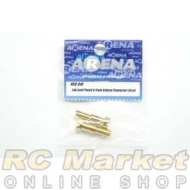 ARENA HCC-010 24K Gold Plated 4-5mm Battery Connector (2pcs)