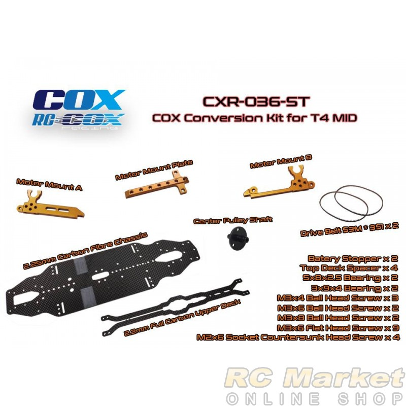 RC-COX CXR-036-ST COX Conversion Kit for T4 MID