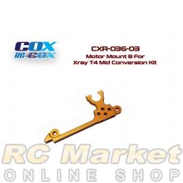 RC-COX CXR-036-03 Motor Mount B for Xray T4 Mid Conversion Kit