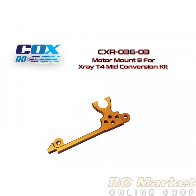 RC-COX CXR-036-03 Motor Mount B for Xray T4 Mid Conversion Kit