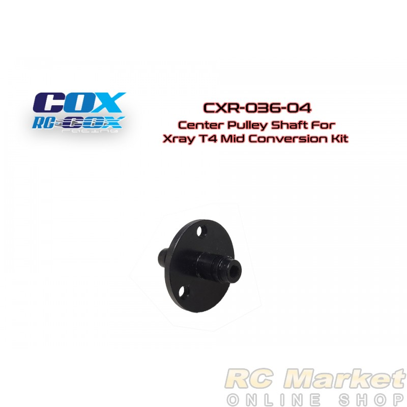 RC-COX CXR-036-04 Center Pulley Shaft for Xray T4 Mid Conversion Kit