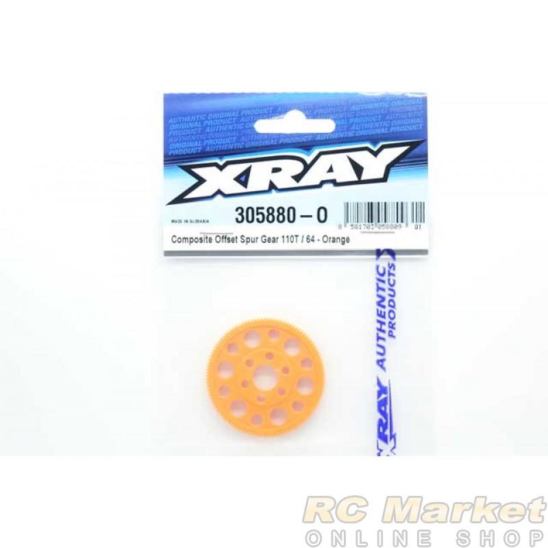 XRAY 305880-O Composite Offset Spur Gear 110T / 64 - Orange