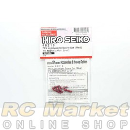 HIRO SEIKO 48218 7PX Lightweight Screw Set (RED)