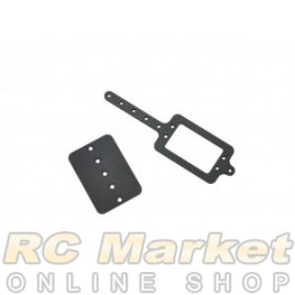SERPENT 905112 Servo/Esc Mount Carbon 988e Pan