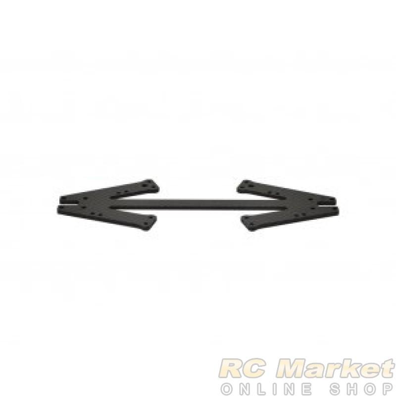 SERPENT 905113 Front Suspension Plate Carbon 988e Pan