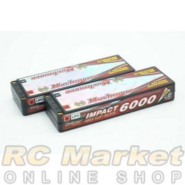"MUCH MORE MLSG-SLCGHV6000 IMPACT ""Silicon Graphene"" LCG HV FD4 Li-Po Battery 6000mAh/7.6V 130C Flat Hard Case x 2Pack"