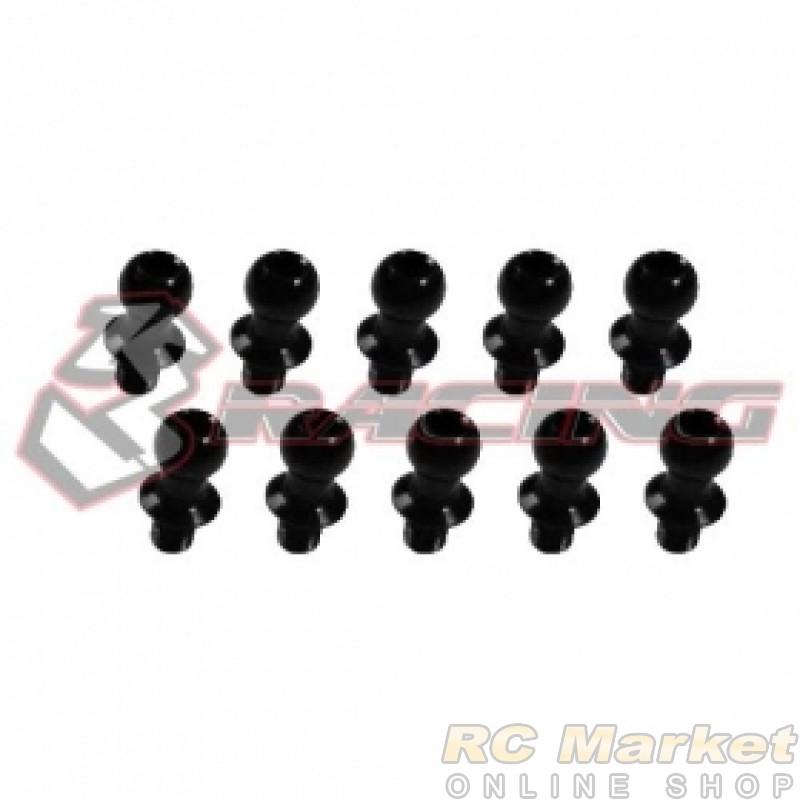 3RACING 3RAC-BS480475/BL M4 PRO 7075 Aluminum 4.8mm Ball Stud L=4 (10 pcs) - Black