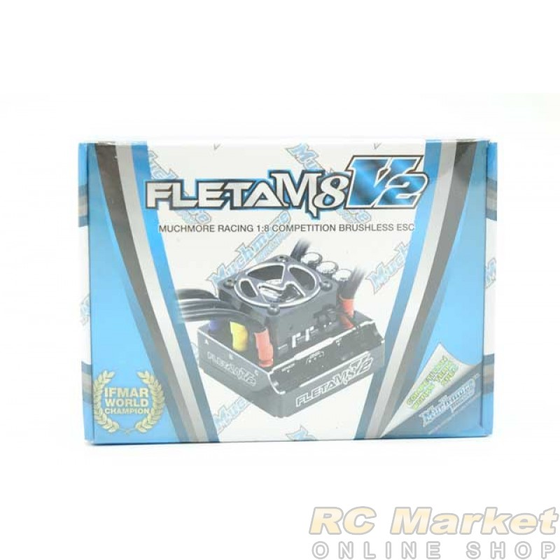 MUCH MORE ME-FLM8V2 FLETA M8 V2 Competition 1/8th Scale Brushless ESC 180A Black