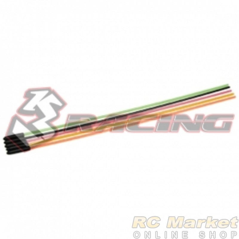 3RACING 3RAC-AP03 M4 PRO 3mm Antenna Rod Set (5 pcs) for 1/10 Scale Gas/Electric Power