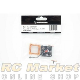 HOBBYWING 30850305 XERUN XR10 PRO G2 3010 Fan With Adapter - Orange