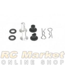 SERPENT 902115 Mounting-Pin Tank + Rubber Cap (2)
