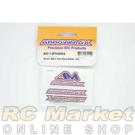 ARROWMAX 13FH3004 Screw Allen Flat Head M3x4 (10)
