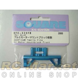 SQUARE SFC-320FB Aluminum Motor Mount Block Front (for TAMIYA F104) Blue
