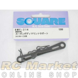 SQUARE SMF-214 Carbon Body Mount Support (for TAMIYA M-06)