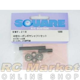 SQUARE SMF-219 Aluminum Midair Carbon Gear Shaft Set (for TAMIYA M-06)