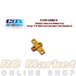 RC-COX CXR-036-11 Motor Mount Plate For Xray T4 Mid Conversion Kit (Option)