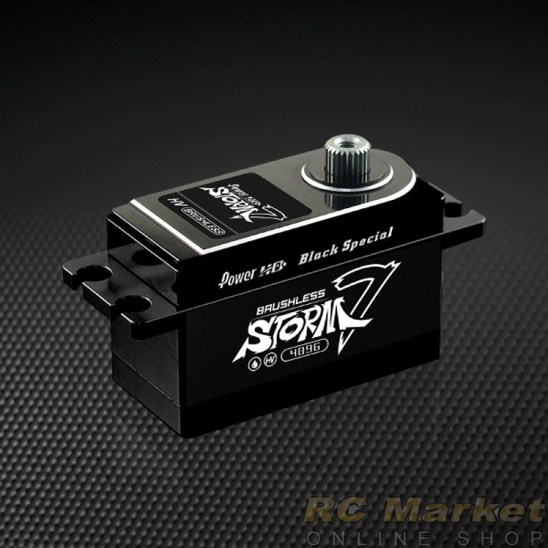 POWER HD STORM-7 Digital High Voltage RC Brushless Servo Black (Free Air Parcel)