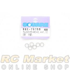 SQUARE SGE-7515S M5 x 6.4 x 1.5t Aluminum Collar (Siliver) 6pcs