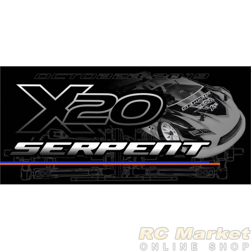SERPENT 400033 Medius X20 MID Carbon 1/10 EP (FREE Shipping)(Pre-Order)