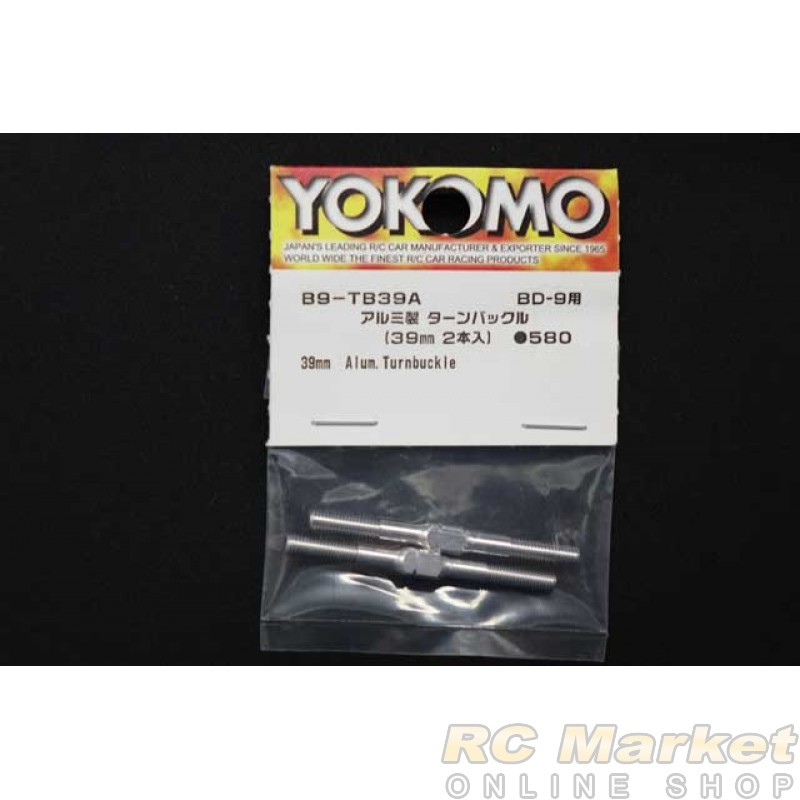 YOKOMO B9-TB39A Aluminum Turnbuckle (39mm 2pcs)