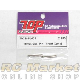 TOP MC-MSU002 18mm Sus. Pin - Front (2 pcs)