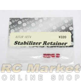 TOP 4252R-SET4 Stabilizer Retainer Red (4 pcs)
