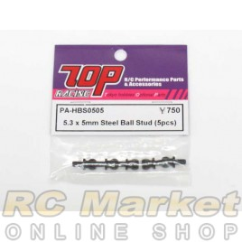 TOP PA-HBS0505 5.3 x 5mm Steel Ball Stud (5 pcs)