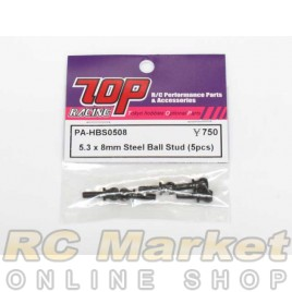 TOP PA-HBS0508 5.3 x 8mm Steel Ball Stud (5 pcs)