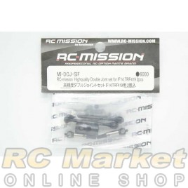 RC MISSION MI-DCJ-SIF Highquality Double Joint Set for IF14, TRF419 (2 pcs)