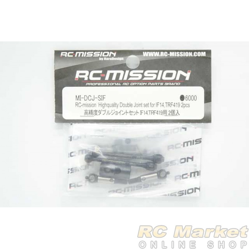 RC-MISSION MI-DCJ-SIF Highquality Double Joint Set for IF14, TRF419 (2 pcs)