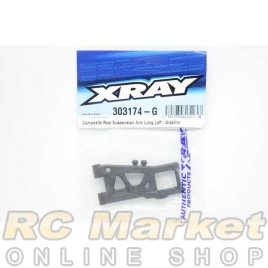XRAY 303174-G T4'20 Rear Suspension Arm Long Left - Graphite