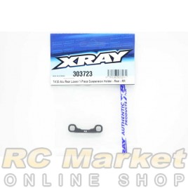 XRAY 303723 T4'20 Alu Rear Lower 1-Piece Suspension Holder - Rear - RR