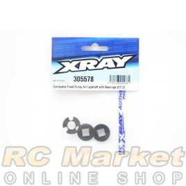 XRAY 305578 T4'20 Fixed Pulley For Layshaft With Bearings 20T (2)