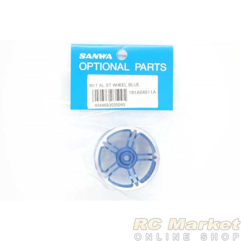 SANWA 191A04611A M17 Aluminum St-Wheel Blue