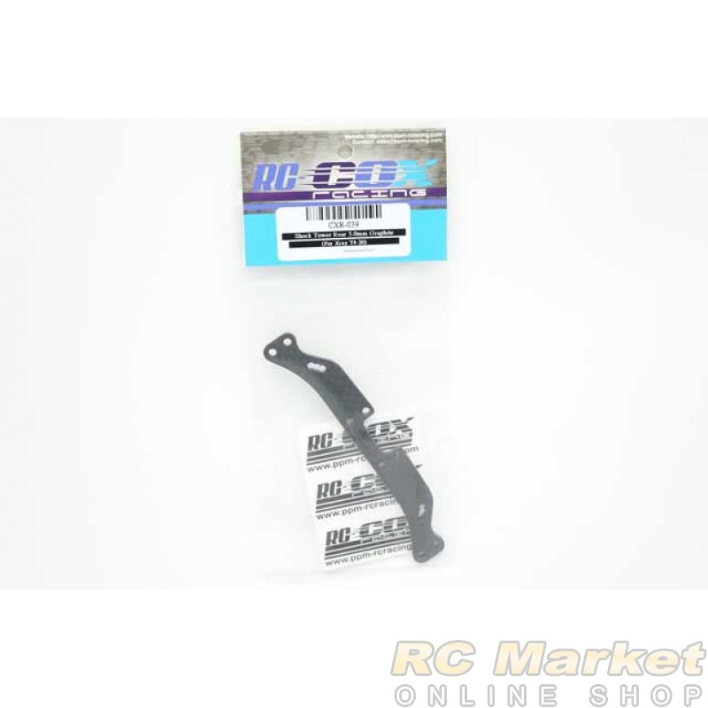 RC-COX CXR-039 Shock Tower Rear 3.0mm Graphite (For Xray T4'20)