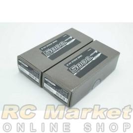 NOSRAM 999559 HV Stock Spec. Shorty Graphene-3 5800mAh HV-LiPo 7.6V 130C/65C Hardcase x 2pack