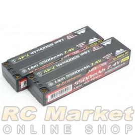 ARROWMAX 700120 AM Lipo 5500mAh 2S TC Narrow - 7.4V 70C Continuous 140C Burst (Si-Graphene) x 2Pack