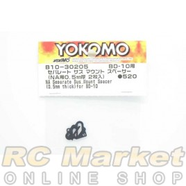 YOKOMO B10-30205 NA Separate Suspension Mount Spacer (0.5mm Thick) for BD10