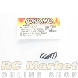 YOKOMO B10-30208 NA Separate Suspension Mount Spacer (0.8mm Thick) for BD10