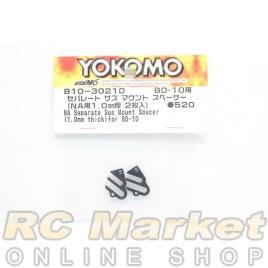 YOKOMO B10-30210 NA Separate Suspension Mount Spacer (1.0mm Thick) for BD10
