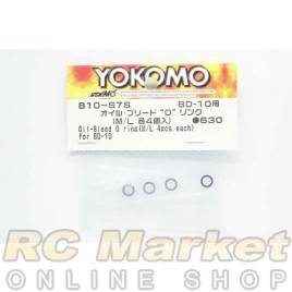 YOKOMO B10-S7S Oil Bleed O-ring (M/L 4pcs each) for BD10