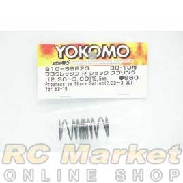 YOKOMO B10-SSP23 Progressive Rear Shock Spring (2.30-3.00/19.5mm) for BD10