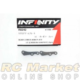 INFINITY R0242 IF18 Rear Lower Arm Plate LC (Carbon Graphite) 2pcs
