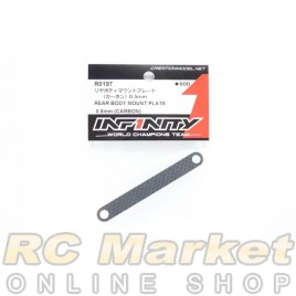 INFINITY R0197 IF18 Rear Body Mount Plate 0.5mm (Carbon)