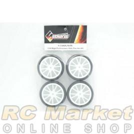 SOLARIS S-T40JGM4W 1/10 High-Performance Slick Tire Set 40-J