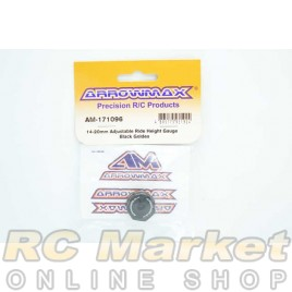 AROWMAX 171096 14-20mm Adjustable Ride Height Gauge Black Golden