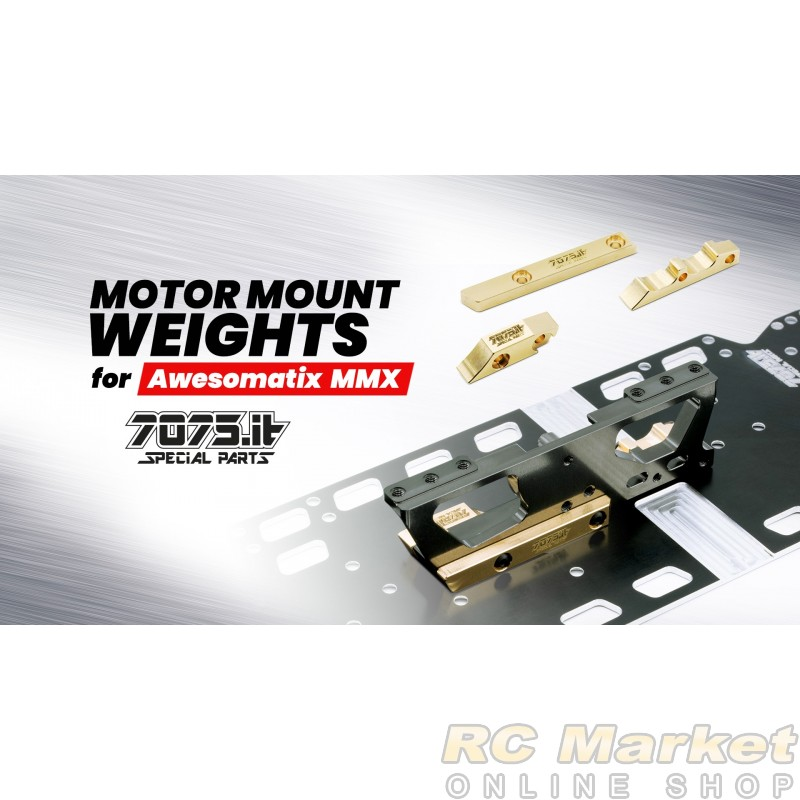 7075.it 7075-AWX-WT-03 Motor Mount Weights kit for A800MMX